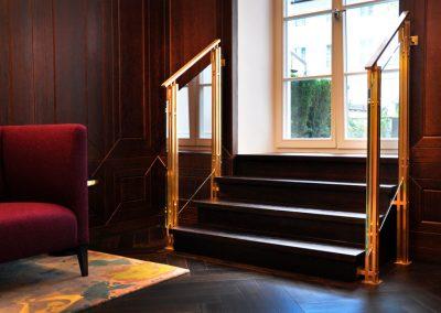 1 Brass glass balustrades