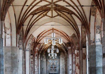 1 Modern custom lighting in a historical building