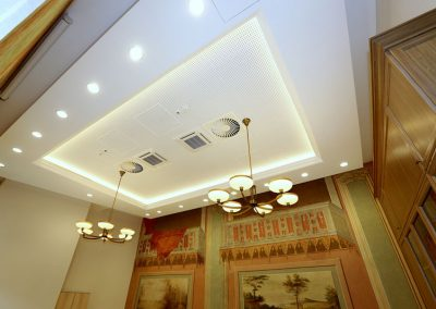2 Brass tailor-made chandeliers for chambers