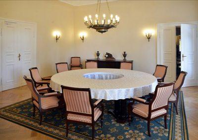2 Cabinet room custom brass chandelier