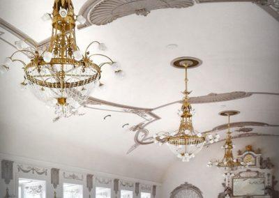2 Cystom brass cristal chandeliers
