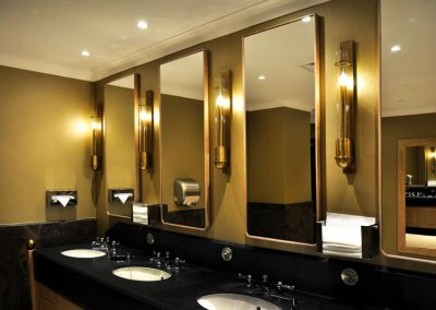 2 Production an installation of brass tailor made wall light