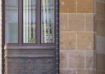2 Restoration of the copper facade in a public building