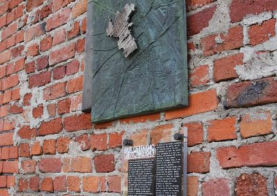 3 Bronze board as a memory monument of Warsaw Ghetto