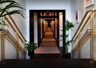 3 Custom artistic brass balustrades and handrails