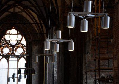 3 Modern custom steel chandeliers
