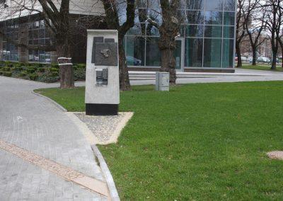 4 Custom concrete monument with bronze board