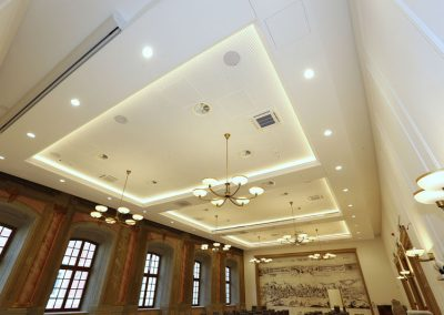 5 Brass glass chandeliers for public buildings