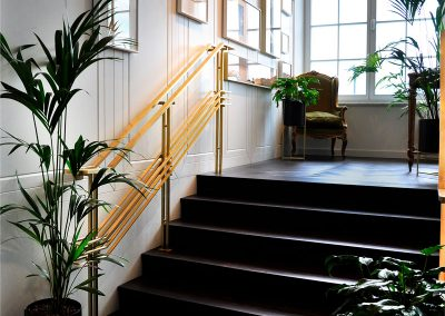 5 Brass handrails and balustrades made according to original design