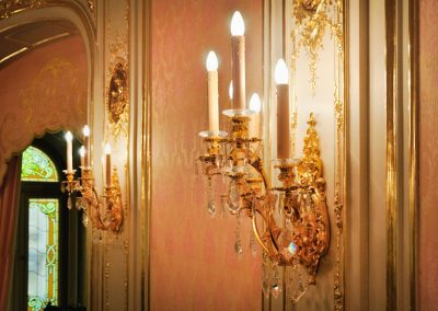 5 Gold plated custom wall lights