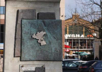 6 Warsaw Ghetto bronze memory sign