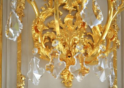 7 Tailor made gold plated lighting