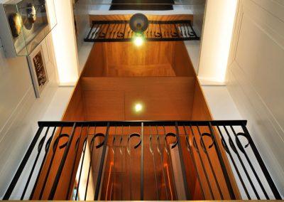 8 Custom balustrades made of powder coated steel