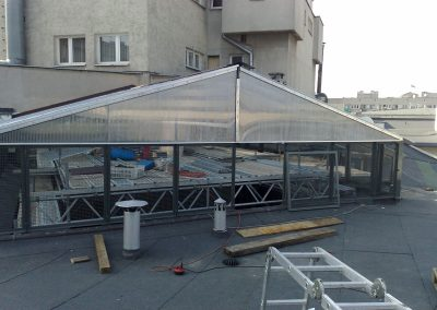 8 Custom steel canopy producing and installation