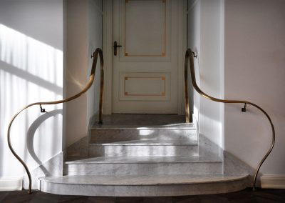 9 Brass artistic balustrades with patina