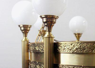 9 Brass custom chandleiers
