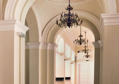 Classic brass chandeliers