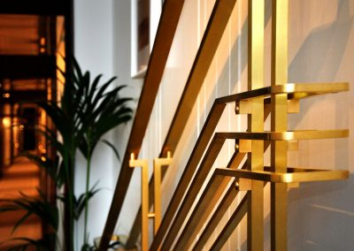 1 Tailor made brass balustrade for Luxury hotel in Warsaw