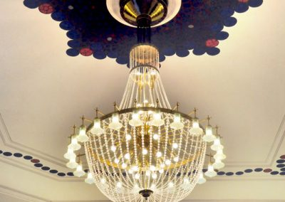 2 Restoration of brass cristall chandelier for luxury hotel in Warsaw