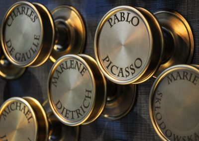 6 Engraved brass as a artistic metalwork installastion Luxury hotel in Warsaw