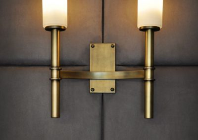 7 Tailor -made brass wall light with glass shades